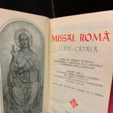 Libros de segunda mano: ANTIGUO MISSAL LLATÍ-CATALÀ, AÑO 1965, 1574PAGS, MIDE APROX 17X10CMS. IMPECABLE. Lote 177300038