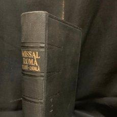 Libros de segunda mano: ANTIGUO MISSAL LLATÍ-CATALÀ, AÑO 1965, 1574PAGS, MIDE APROX 17X10CMS. IMPECABLE. Lote 177300965