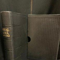 Libros de segunda mano: ANTIGUO MISSAL LLATÍ-CATALÀ, AÑO 1965, 1574PAGS, MIDE APROX 17X10CMS. CON SU FUNDA. IMPECABLE. Lote 177301335