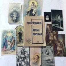 Libros de segunda mano: DEVOCIONARIO Y RITUAL POPULAR / CON ESTAMPAS EN SU INTERIOR / MONTEVIDEO 1945 / URUGUAY. Lote 177602752