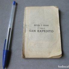 Libros de segunda mano: NOVENA Y TRIDUO EN HONOR DE SAN EXPÉDITO - HIJA DE E. HERNANDEZ. 1941. Lote 177948169