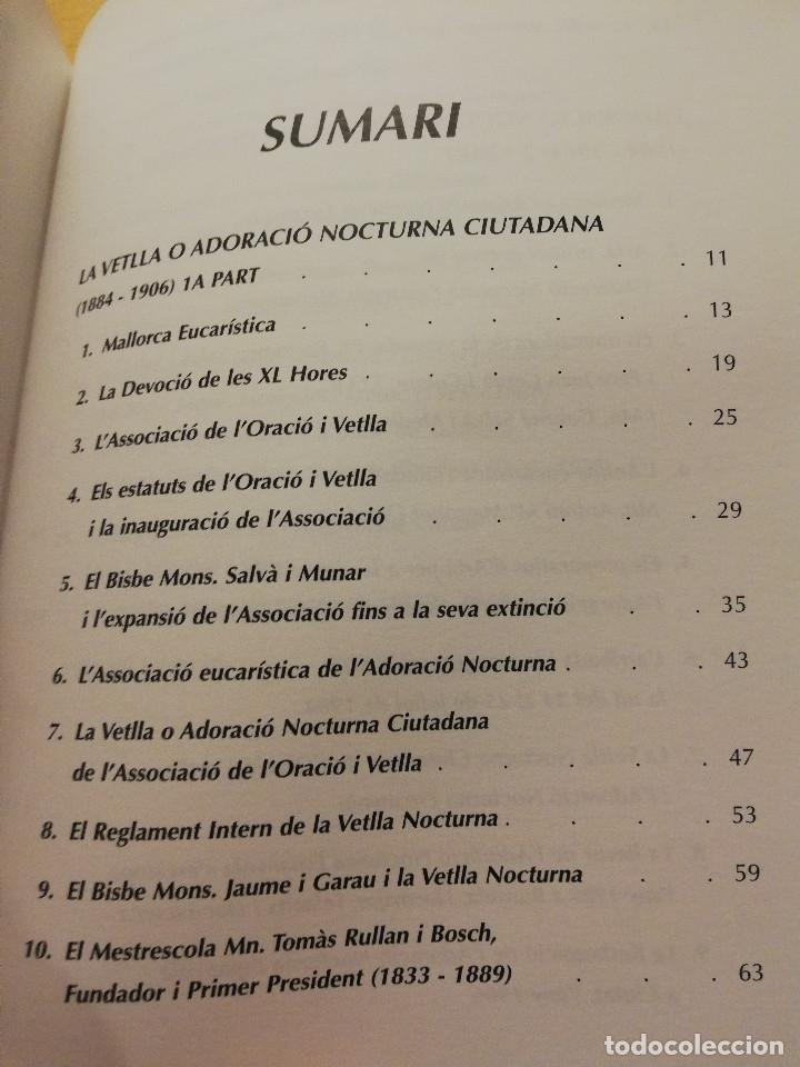 Libros de segunda mano: 100 ANYS DADORACIÓ NOCTURNA A MALLORCA 1884 - 1984 (BALTASAR MOREY CARBONELL) - Foto 3 - 178144190