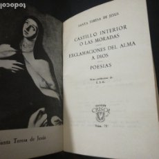 Libros de segunda mano: SANTA TERESA DE JESÚS, LAS MORADAS, CRISOL AGUILAR. Lote 178629961