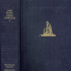 Libros de segunda mano: REF.0014730 OBRAS COMPLETAS TOMO I / JAIME BALMES. Lote 178873200