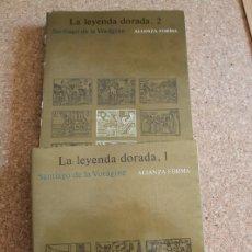 Libros de segunda mano: LA LEYENDA DORADA. 1 Y 2. VORÁGINE (SANTIAGO DE LA) MADRID, ALIANZA, 1987.. Lote 178961572