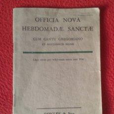 Libros de segunda mano: LIBRO GUÍA MANUAL O SIMIL OFFICIA NOVA CUM CANTU GREGORIANO CANTO ? 1956 DESCLÉE & SOCII MÚSICA. Lote 179131135