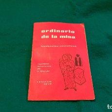 Libros de segunda mano: ORDINARIO DE LA MISA (1965). Lote 179202977