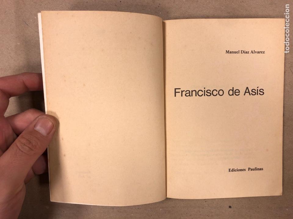 Libros de segunda mano: FRANCISCO DE ASÍS. MANUEL DIAZ ÁLVAREZ. EDICIONES PAULINAS 1982. 141 PÁGINAS. - Foto 2 - 180119131
