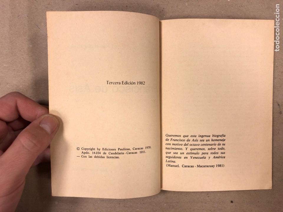 Libros de segunda mano: FRANCISCO DE ASÍS. MANUEL DIAZ ÁLVAREZ. EDICIONES PAULINAS 1982. 141 PÁGINAS. - Foto 3 - 180119131