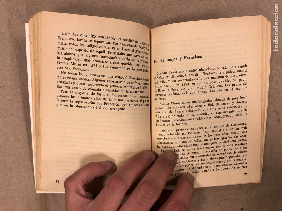 Libros de segunda mano: FRANCISCO DE ASÍS. MANUEL DIAZ ÁLVAREZ. EDICIONES PAULINAS 1982. 141 PÁGINAS. - Foto 5 - 180119131