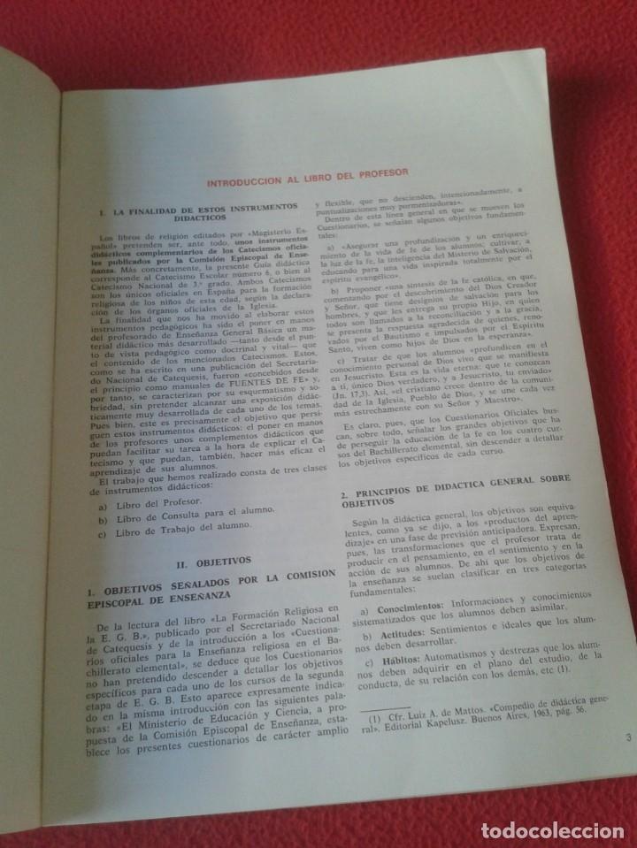 Libros de segunda mano: LIBRO VERDAD Y VIDA 6 1972 LIBRO DEL PROFESOR EDITORIAL MAGISTERIO ESPAÑOL, S. A. PEDRO DE LA HERRÁN - Foto 4 - 180163140