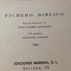 Libros de segunda mano: FICHERO BÍBLICO, THIERRY MAERTENS, MAROVA. Lote 180337900