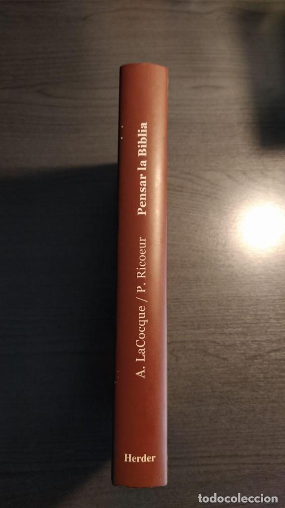 Libros de segunda mano: Pensar La Biblia: Estudios Exegeticos Andre LaCocque,Paul Ricoeur HERDER - Foto 5 - 180416667