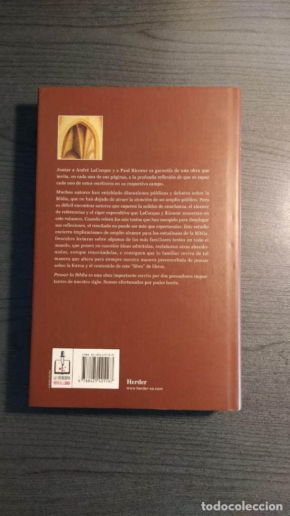 Libros de segunda mano: Pensar La Biblia: Estudios Exegeticos Andre LaCocque,Paul Ricoeur HERDER - Foto 6 - 180416667