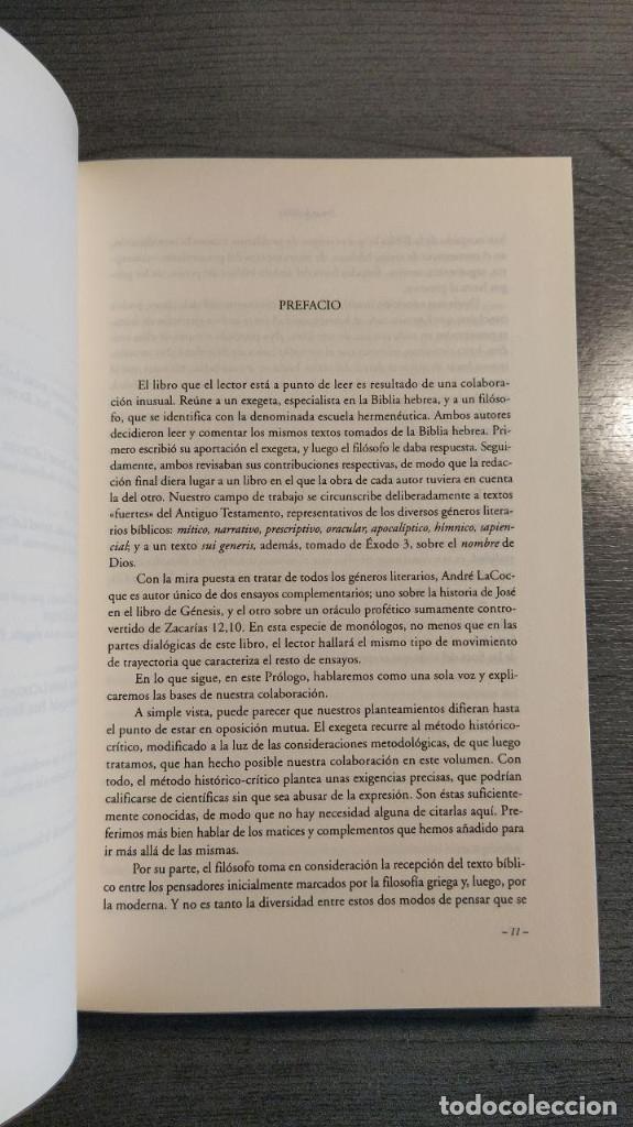 Libros de segunda mano: Pensar La Biblia: Estudios Exegeticos Andre LaCocque,Paul Ricoeur HERDER - Foto 7 - 180416667