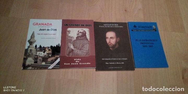 LOTE DE 4 LIBROS DE SAN JUAN DE DIOS Y GRANADA (Libros de Segunda Mano - Religión)