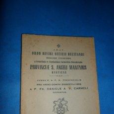 Libros de segunda mano: ORDO DIVINI OFFICII RECITANDI MISSAEQUE, CORDUBAE, 1951. Lote 180875257