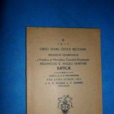 Libros de segunda mano: ORDO DIVINI OFFICII RECITANDI MISAEQUE, CORDUBAE, 1952. Lote 180878873