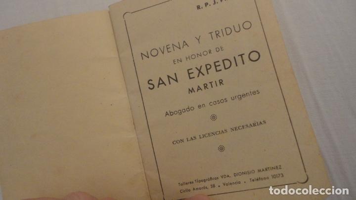 Libros de segunda mano: J.PINEDO.NOVENA TRIDUO SAN EXPEDITO MARTIR.VALENCIA 1949 - Foto 2 - 180894967
