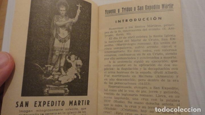 Libros de segunda mano: J.PINEDO.NOVENA TRIDUO SAN EXPEDITO MARTIR.VALENCIA 1949 - Foto 4 - 180894967