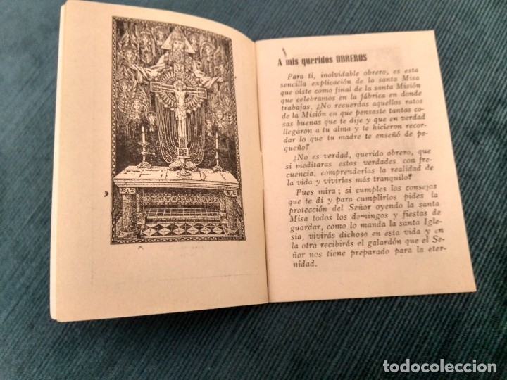 Libros de segunda mano: La misa del Obrero.por el P. Salvador de Rafelbuñol. Capuchino. Imp Domenech Valencia 1946 - Foto 3 - 180986438