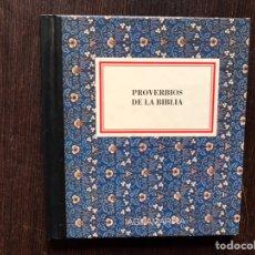 Libros de segunda mano: PROVERBIOS DE LA BIBLIA. AGUAMARINA. Lote 181167460
