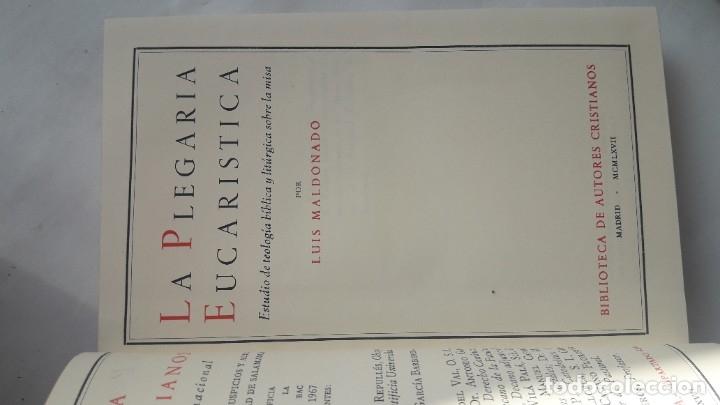 Libros de segunda mano: LA PLEGARIA EUCARÍSTICA.- Estudio de teología bíblica y litúrgica sobre la misa. (L Maldonado, 1967) - Foto 5 - 181207727