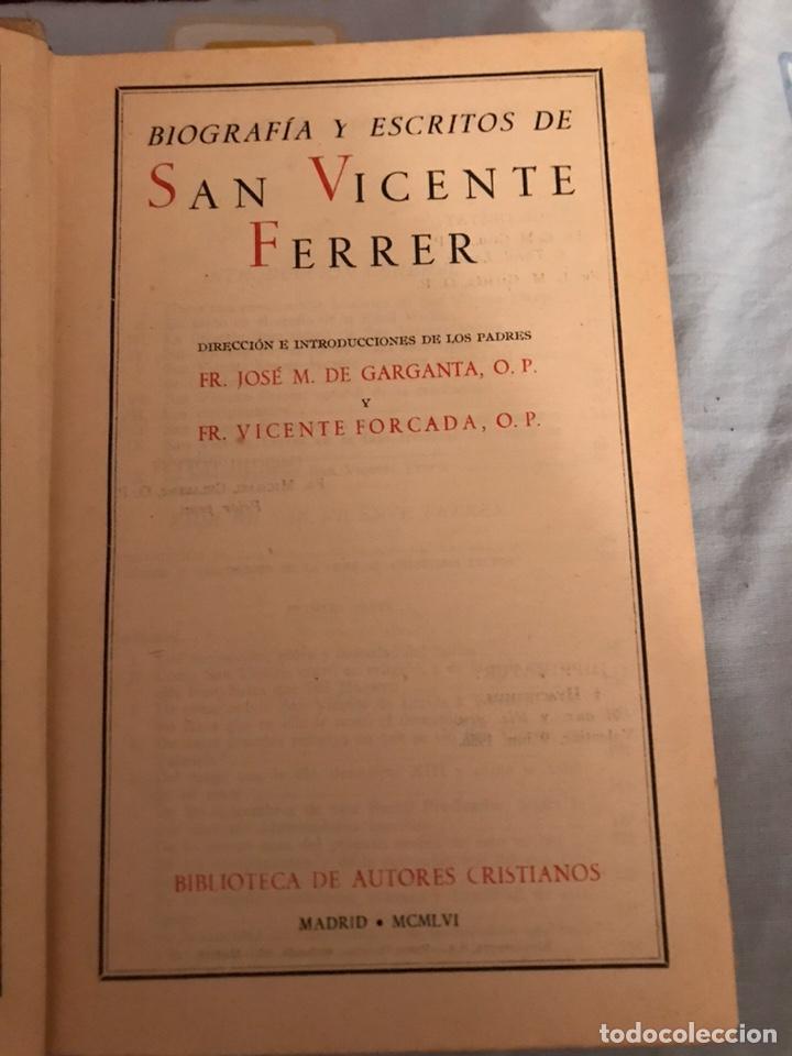 Libros de segunda mano: SAN VICENTE FERRER. BAC. - Foto 3 - 181490210