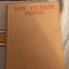 Libros de segunda mano: SAN VICENTE FERRER. BAC.. Lote 181490210
