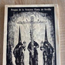 Libros de segunda mano: PREGON DE LA SEMANA SANTA DE SEVILLA 1975. RAFAEL DUQUE DEL CASTILLO. PAGS: 56. Lote 181902927