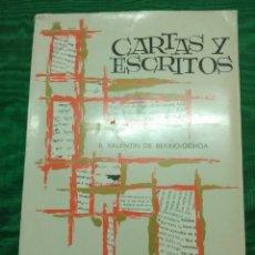 Libros de segunda mano: CARTAS Y ESCRITOS. B. VALENTÍN DE BERRIO-OCHOA. 1966. 3 ED. . Lote 182133107