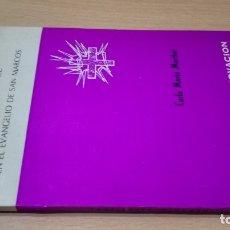 Libros de segunda mano: ITINERARIO ESPIRITUAL DE LOS DOCE EN EL EVANGELIO DE SAN MARCOS- CARLO MARIA MARTINI/ G401. Lote 182495397