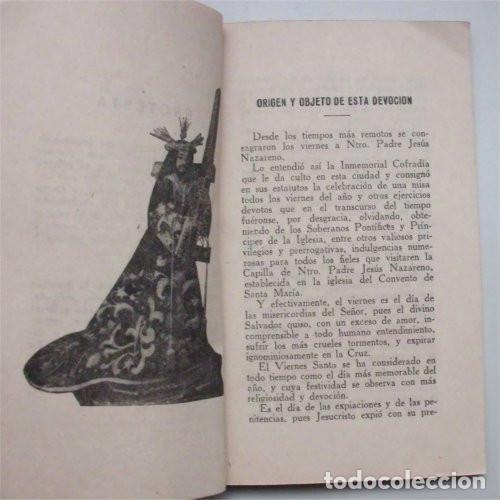NUEVE VIERNES DEDICADOS A NTRO. PADRE JESÚS NAZARENO. CÁDIZ, 1941 (Libros de Segunda Mano - Religión)