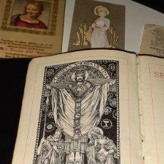 Libros de segunda mano: LIBRO BIBLIA SETMANA SANTA ( TEXTO CATALAN Y LATIN ) SEGUNDA EDICION + LOTE DE PAPELES RELIGIOSOS. Lote 183851463
