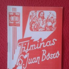 Libros de segunda mano: PEQUEÑO LIBRO CUADERNO O SIMIL FILMINAS SAN JUAN BOSCO Nº 408 KOMAYAK III LAS AMENAZAS DEL BRUJO..... Lote 183971236