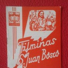 Libros de segunda mano: PEQUEÑO LIBRO CUADERNO O SIMIL FILMINAS SAN JUAN BOSCO H , 3 FÁBULAS MITOS GRIEGOS PRIMEROS TIEMPOS. Lote 183977682