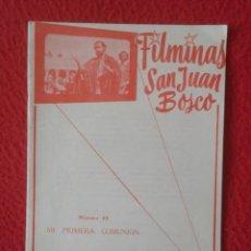 Libros de segunda mano: PEQUEÑO LIBRO CUADERNO O SIMIL FILMINAS SAN JUAN BOSCO Nº 85 MI PRIMERA COMUNIÓN VER FOTO Y DESCRIPC. Lote 183978403