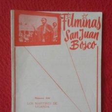 Libros de segunda mano: PEQUEÑO LIBRO CUADERNO O SIMIL FILMINAS SAN JUAN BOSCO Nº 404 LOS MÁRTIRES DE UGANDA VER FOTO Y DESC. Lote 183978708