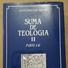 Libros de segunda mano: SUMA DE TEOLOGIA ( SANTO TOMAS DE AQUINO ) TOMO 2 PARTE I-II. Lote 184058907