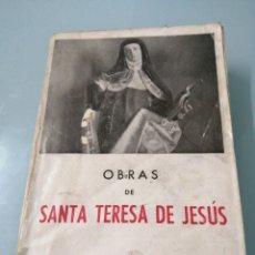 Libros de segunda mano: OBRAS DE SANTA TERESA DE JESÚS. CIRCA 1945. ED. MIÑON S.A.. Lote 184080638