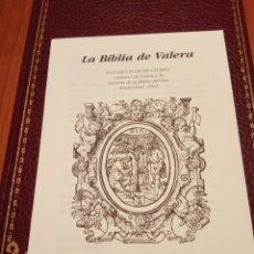 Libros de segunda mano: SAGRADA BIBLIA, CIPRIANO DE VALERA 1602. Lote 184363807