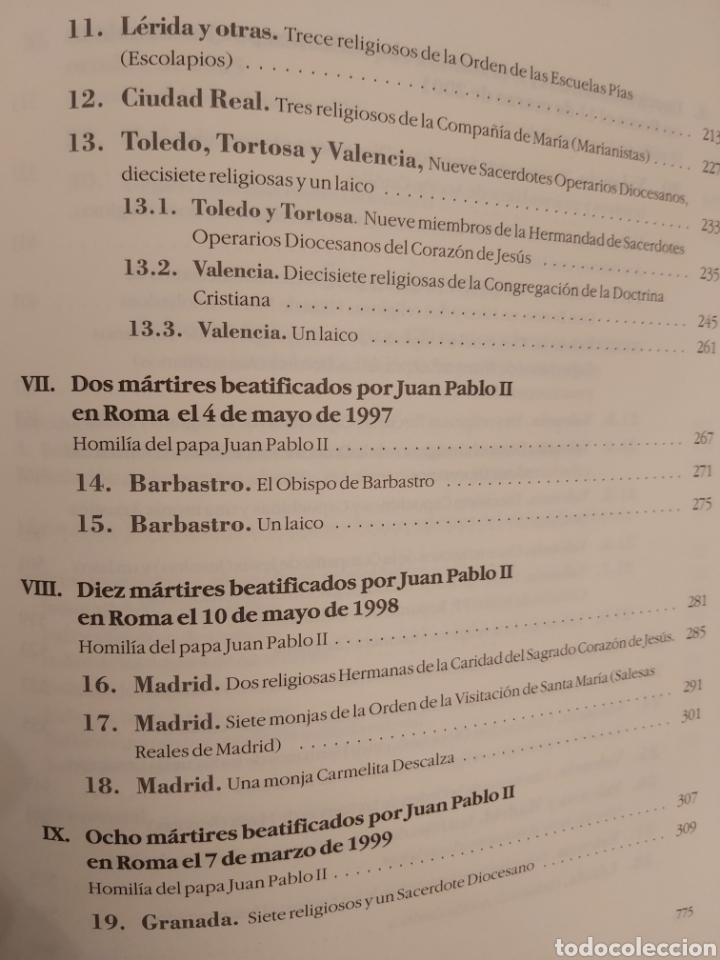 Libros de segunda mano: LOS PRIMEROS 479 SANTOS Y BEATOS MÁRTIRES DEL SIGLO XX EN ESPAÑA. - Foto 6 - 185748465