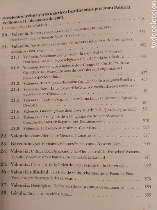Libros de segunda mano: LOS PRIMEROS 479 SANTOS Y BEATOS MÁRTIRES DEL SIGLO XX EN ESPAÑA. - Foto 7 - 185748465
