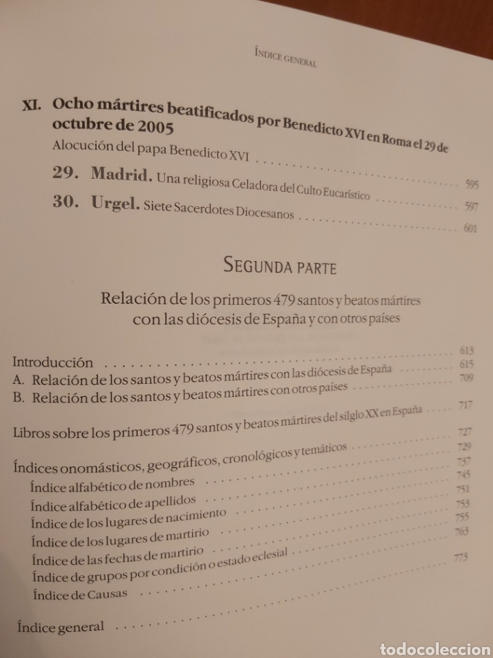 Libros de segunda mano: LOS PRIMEROS 479 SANTOS Y BEATOS MÁRTIRES DEL SIGLO XX EN ESPAÑA. - Foto 8 - 185748465