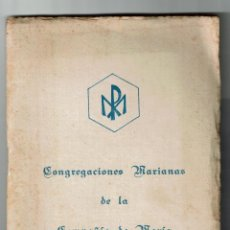 Libros de segunda mano: CONGREGACIONES MARIANAS COMPAÑIA DE MARIA REGLAMENTO A.M.D.G. LEYRE PAMPLONA 56 PAGINAS. Lote 186212030