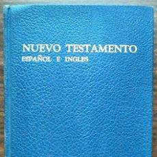 Libros de segunda mano: NUEVO TESTAMENTO ESPAÑOL E INGLES.. Lote 187169757
