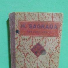 Libros de segunda mano: HISTORIA SAGRADA SEGUNDO GRADO EDITORIAL LUIS VIVES HUESCA 14 DE ENERO DE 1938. Lote 187219433