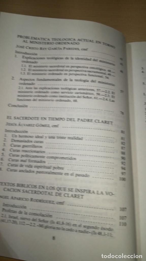 Libros de segunda mano: SACERDOTES MISIONEROS AL ESTILO DE CLARET - I SEMANA SACERDOTAL CLARETIANA/ J 402 - Foto 8 - 188642831
