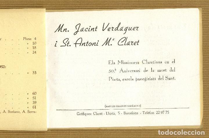 Libros de segunda mano: IV APLEC CLARETIA MATAGALLS, 1953 Mn. J. VERDAGUER I St. A. Mª. CLARET - Foto 3 - 190563677