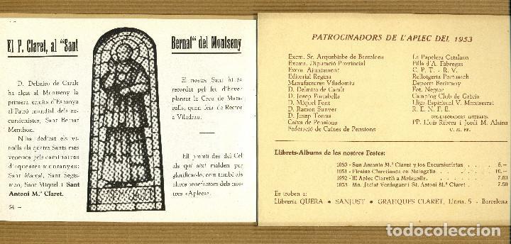 Libros de segunda mano: IV APLEC CLARETIA MATAGALLS, 1953 Mn. J. VERDAGUER I St. A. Mª. CLARET - Foto 4 - 190563677